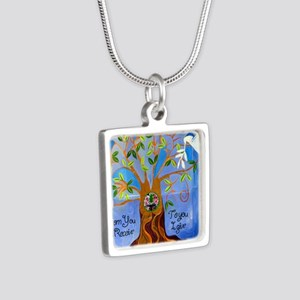 tree for joyce Silver Square Necklace