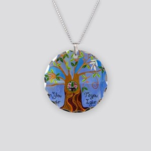 tree for joyce Necklace Circle Charm