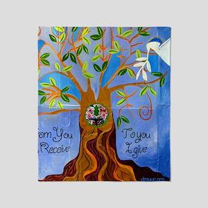 tree for joyce Throw Blanket