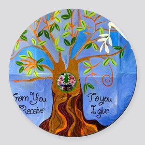 tree for joyce Round Car Magnet