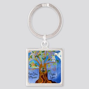 tree for joyce Square Keychain