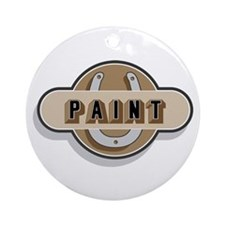 American Paint Horse Ornament (Round)