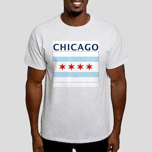 Chicago Flag Gear Ash Grey T-Shirt