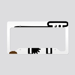I Pooped Today! Funny Cow Gif License Plate Holder