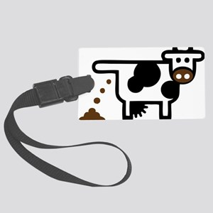 I Pooped Today! Funny Cow Gift Large Luggage Tag