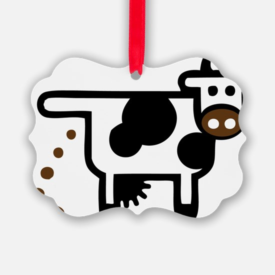 I Pooped Today! Funny Cow Gift Ornament