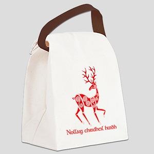 Celtic Christmas T Sct Canvas Lunch Bag