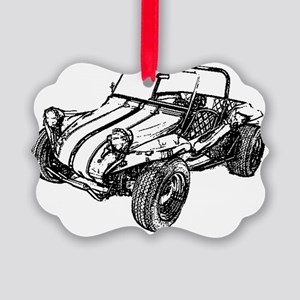 dune buggy pencil Picture Ornament