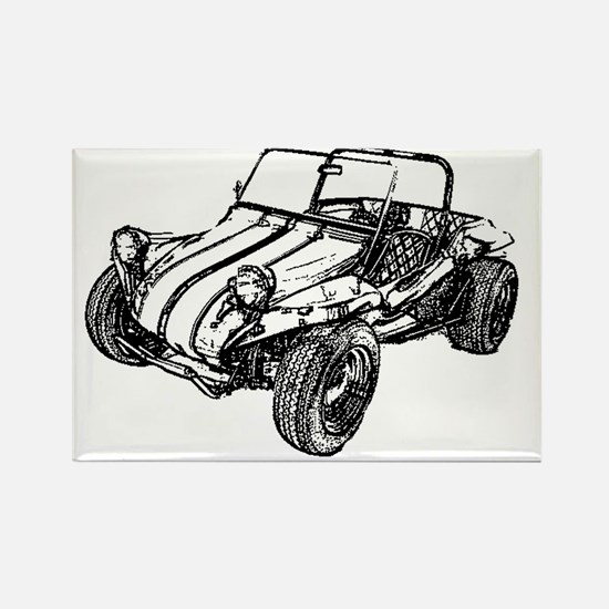 dune buggy pencil Rectangle Magnet
