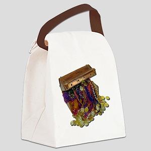 ColorfulPirateTreasureGoldCoins11 Canvas Lunch Bag