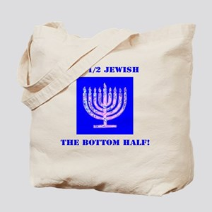 Half Jewish 3 2 clear Tote Bag