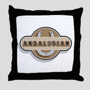 Andalusian Horse Throw Pillow