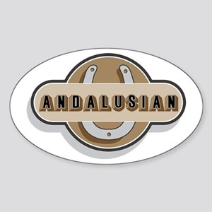 Andalusian Horse Oval Sticker
