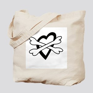 Heart and Crossbones Tote Bag