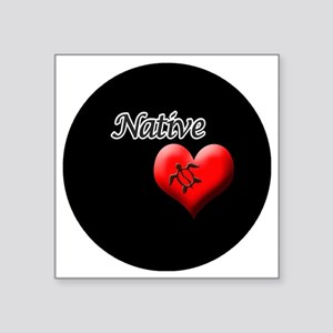 "Native-Honu Square Sticker 3"" x 3"""