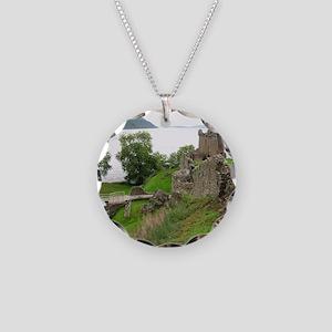 Urquhart Castle Necklace Circle Charm