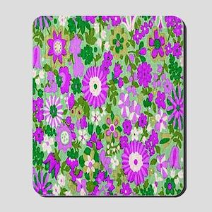 Aqua Flowers Spice copy Mousepad