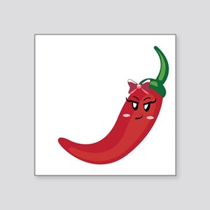 """chili picante black Square Sticker 3"""" x 3"""""""