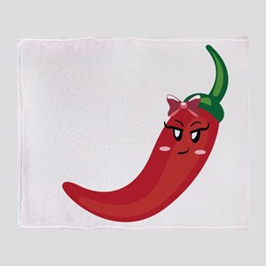 chili picante black Throw Blanket