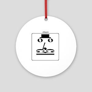 Smiley Notes Adagio Round Ornament