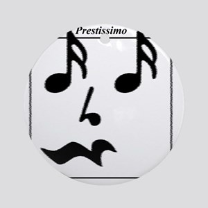 Smiley Notes Prestissimo Round Ornament