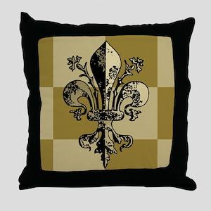 AntiqFleurGfcMp Throw Pillow