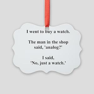 analogjoke Picture Ornament