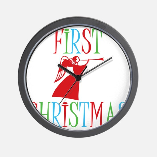 First-Christmas Wall Clock