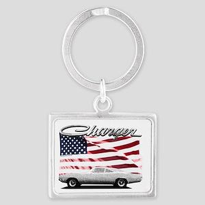 Charger USA flag Landscape Keychain