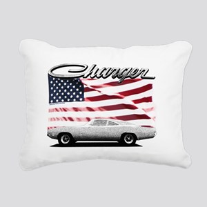 Charger USA flag Rectangular Canvas Pillow
