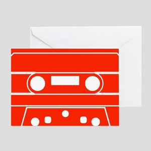 Cassette Red Greeting Card