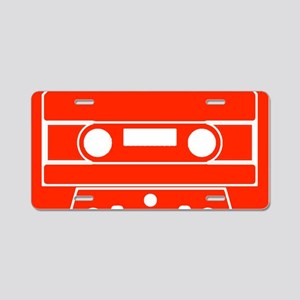 Cassette Red Aluminum License Plate