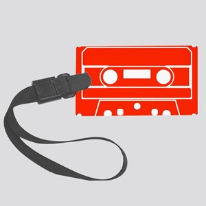 Cassette Red Large Luggage Tag