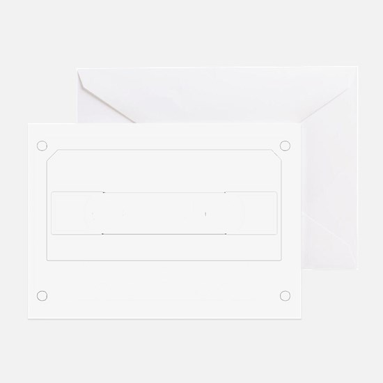 Cassette White Greeting Card
