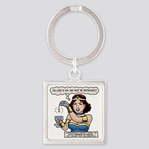 sup-heroine-T Square Keychain