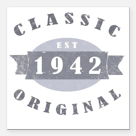 """ClassicOrig1942 Square Car Magnet 3"""" x 3"""""""