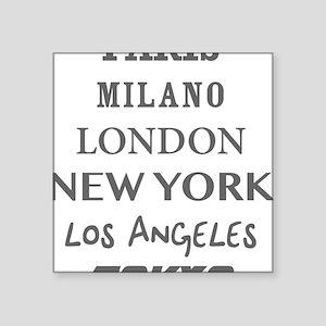 "cities Square Sticker 3"" x 3"""