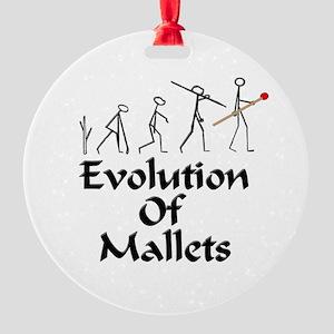 funny mallet evolution xylophone, v Round Ornament
