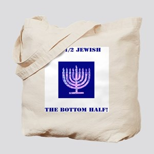 Funny Im 1/2 Jewish, the Bottom Half Navy Tote Bag