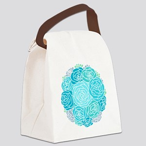 Beautiful Blue Flowers Canvas Lunch Bag