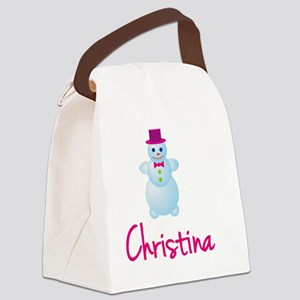 Christina-the-snow-woman Canvas Lunch Bag