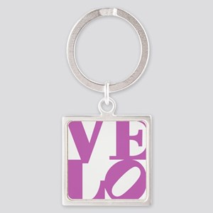 4velo_pink Square Keychain