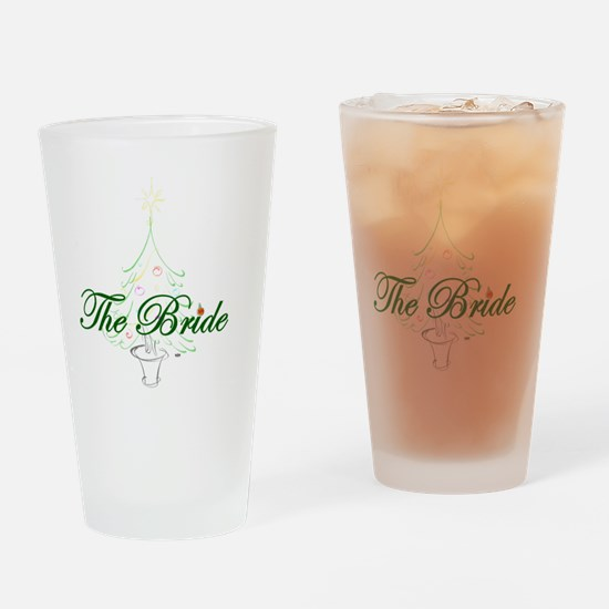 The Christmas Bride Drinking Glass