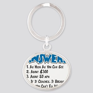 sweatshirt_light Oval Keychain