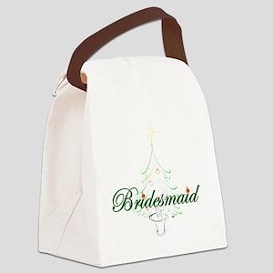 The Christmas Bridesmaid Canvas Lunch Bag