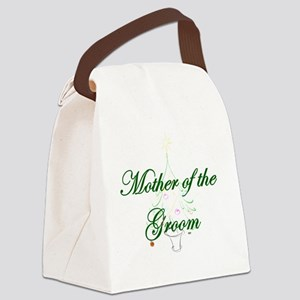 The Christmas Mother of the Groom Canvas Lunch Bag