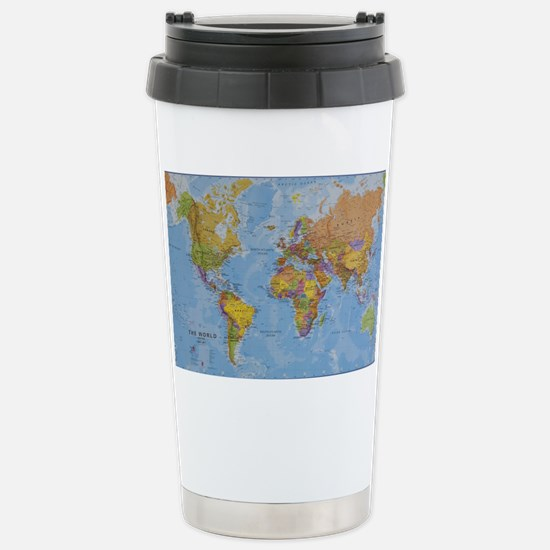 World map mugs cafepress world stainless steel travel mug sciox Image collections
