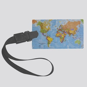world Large Luggage Tag