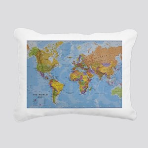 world Rectangular Canvas Pillow