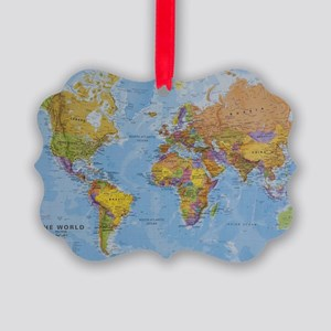 world Picture Ornament
